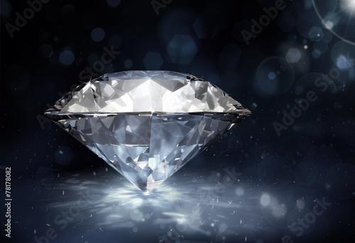 Diamant auf dunklem Hintergrund Fototapete