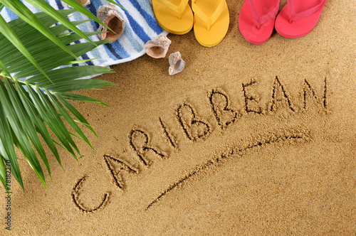Foto op Canvas Australië Caribbean beach background