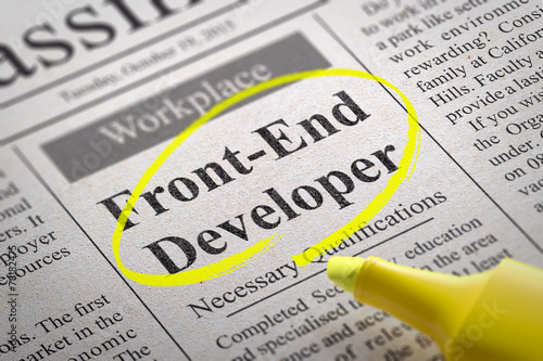 Photo  Front-End Developer  Vacancy in Newspaper.