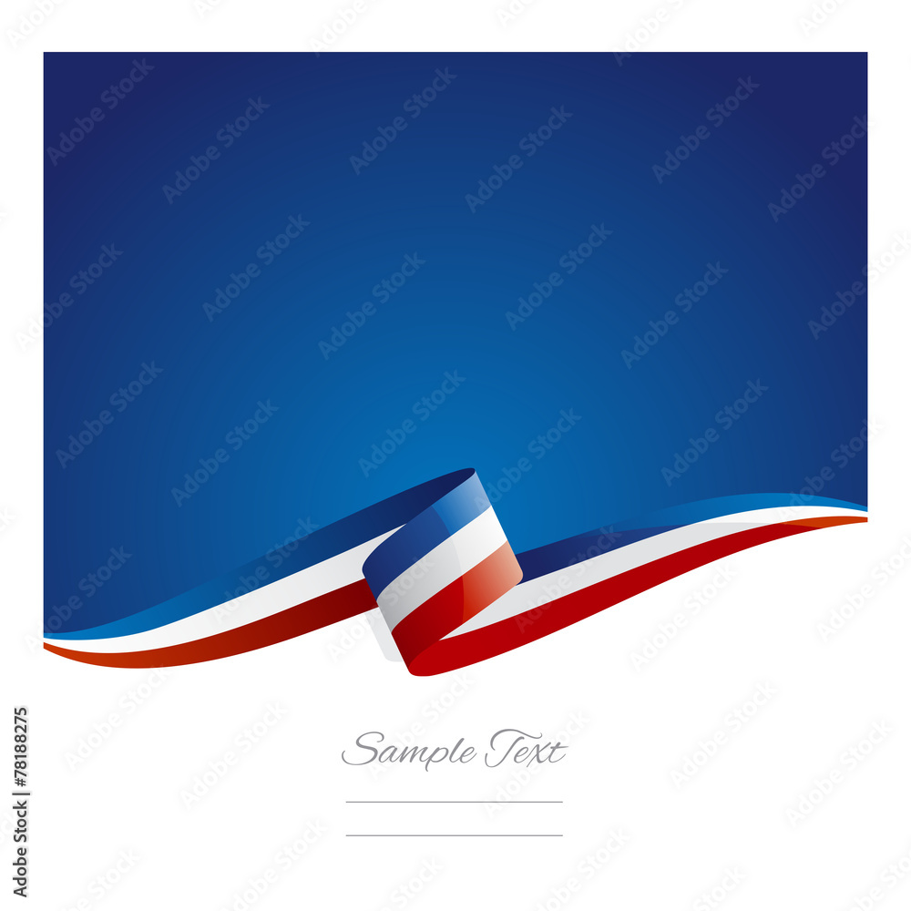 Fototapety, obrazy: New abstract France flag ribbon