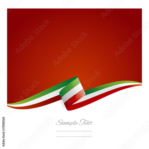 Fotografiet  New abstract Italy flag ribbon