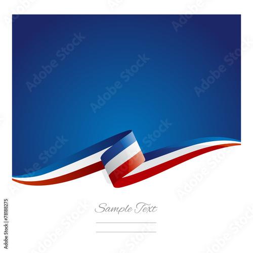 Obraz New abstract France flag ribbon - fototapety do salonu