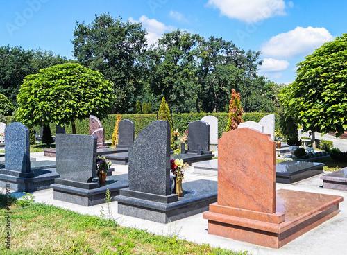 Keuken foto achterwand Begraafplaats Tombstones in the cemetery