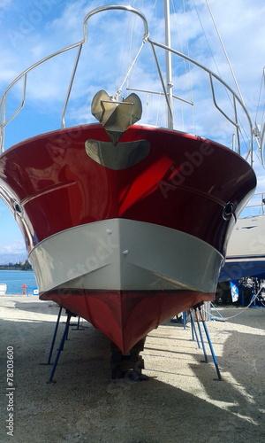Foto op Plexiglas Water Motor sporten Motor Boat Maintenance