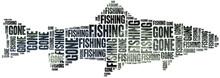 Gone Fishing. Word Cloud Illus...