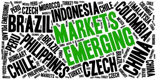 Photographie Emerging markets. Word cloud illustration.