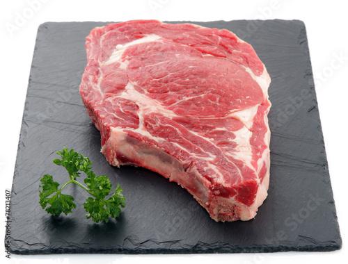 Staande foto Vlees Viande de boeuf