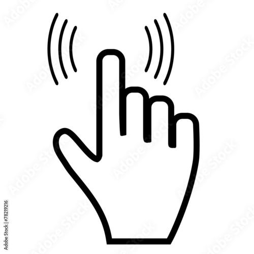 Fototapeta Click hand icon pointer obraz na płótnie