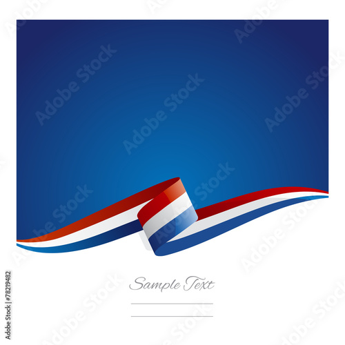 Fotografie, Obraz  New abstract Netherlands flag ribbon