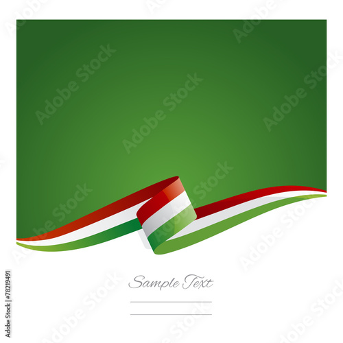 Fotografia  New abstract Hungary flag ribbon