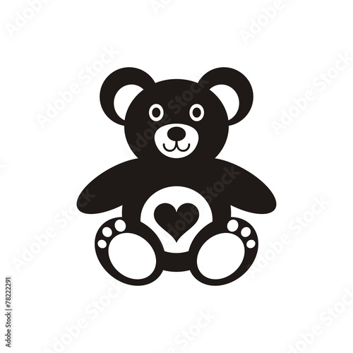 Teddy bear icon with heart #78222291
