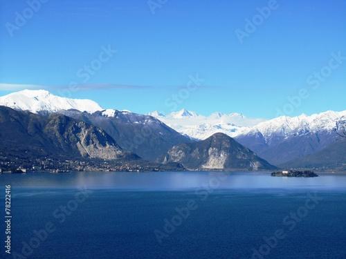 Valokuva Winter - Panorama des Lago Maggiore - Italien