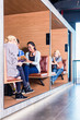 Creative business people in coworking space