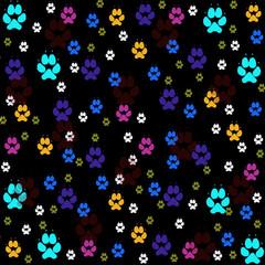 Fototapeta na wymiar Animal tracks,seamless pattern