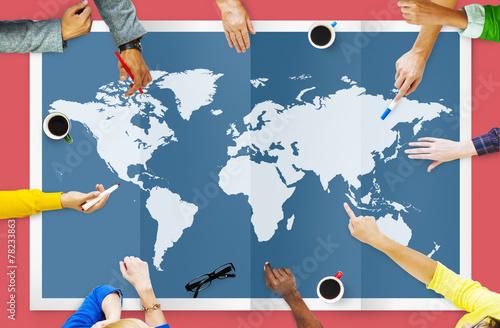 Fotografía  World Global Business Cartography Globalization Concept