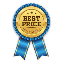 Gold Best Price Badge With Blu...