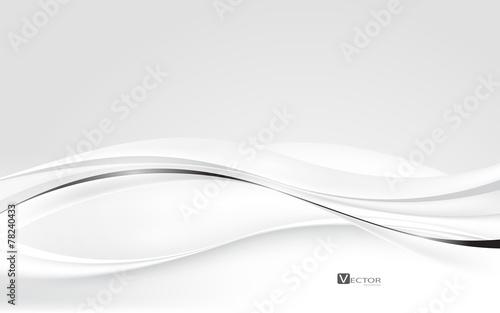 Fototapeta Abstract white waves. Vector Illustration obraz