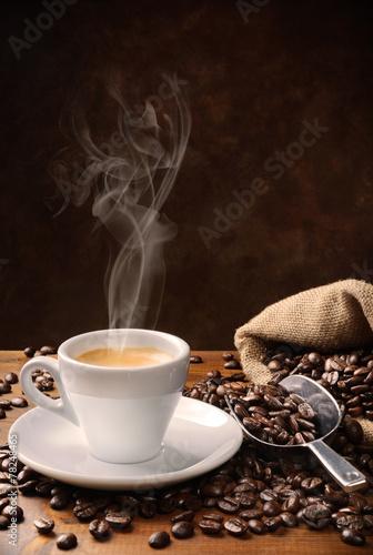 fototapeta na lodówkę Kawa