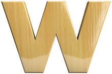 Wooden Letter W