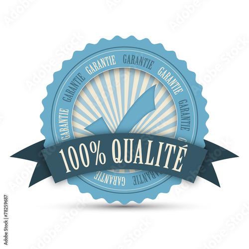Valokuva  Tampon Publicitaire 100% QUALITE (engagement icône marketing)