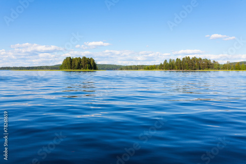 Printed kitchen splashbacks Lake Finland lake scape at summer