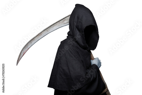 Photo Grim reaper. Halloween. Death