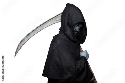 Grim reaper. Halloween. Death Canvas Print