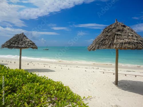 Papiers peints Zanzibar Jambiani beach at Zanzibar, Tanzania