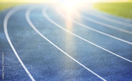 Obraz na plátně blue running track