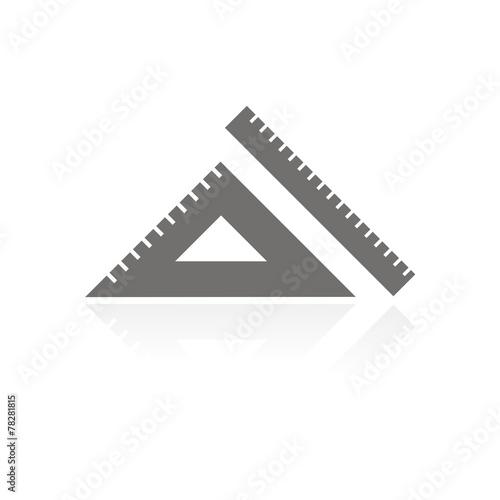 Fotografering  Icono regla y escuadra FB reflejo