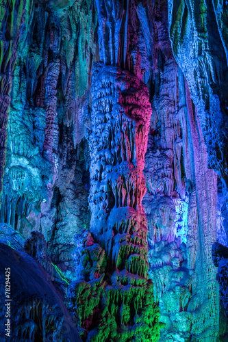 Reed flute cave in Guilin Guangxi China