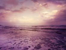 Beautiful Sunset Over The Sea,...