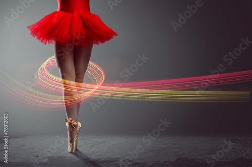 Legs of a female Dancer Fototapeta