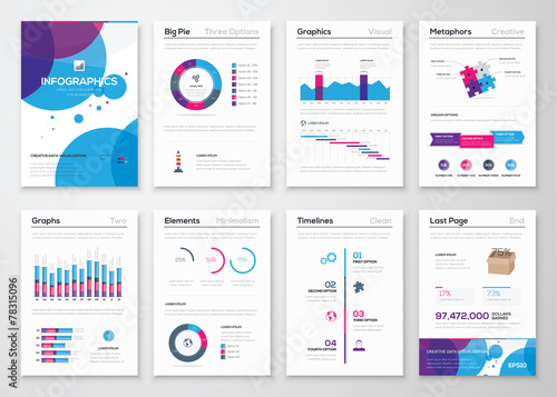 Photo  Fresh vector elements for infographics and business brochures