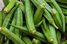 Pile Of Fresh Okra