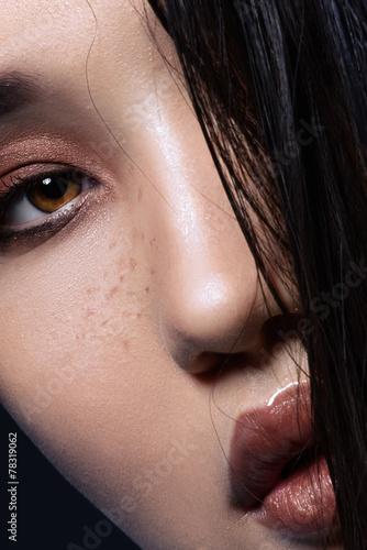 Photo  Fashion close-up portrait of asian girl