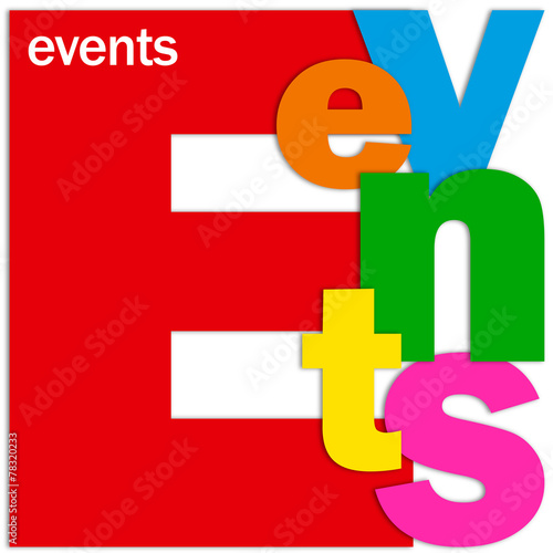EVENTS Letter Collage (calendar coming up corporate) #78320233