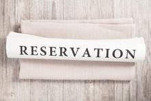 Reservation (englisch) Geschrieben