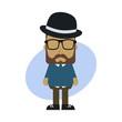 little sprite hipster cartoon guy