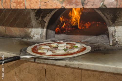 Tuinposter Pizzeria Pizza in forno