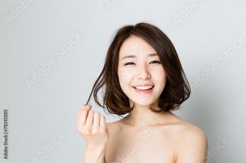 Cuadros en Lienzo attractive asian woman beauty image