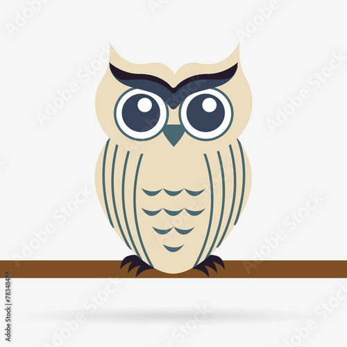 Deurstickers Uilen cartoon owl bird