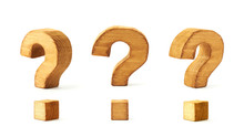 Set Of Three Question Marks Isolated