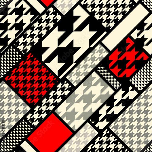 Photo  houndtooth geometric pattern