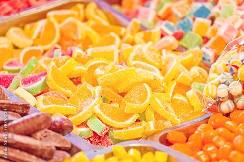 Foto op Aluminium Snoepjes Sweet Sugar Candies