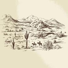 Wild West - Hand Drawn Illustration