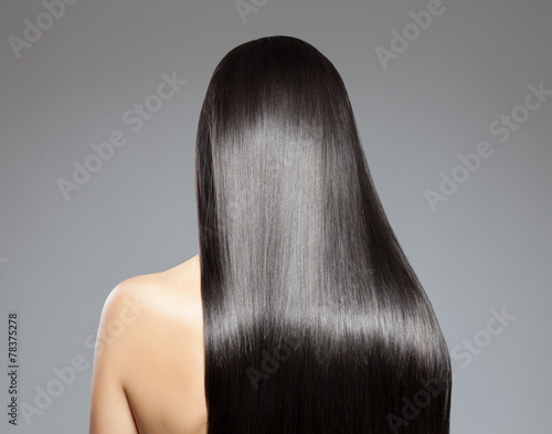 Fotobehang Kapsalon Long straight hair