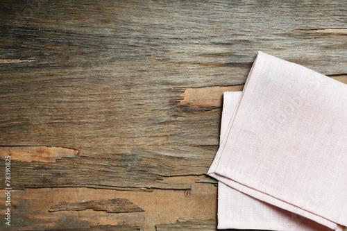 Fotografie, Obraz  Napkin on wooden table