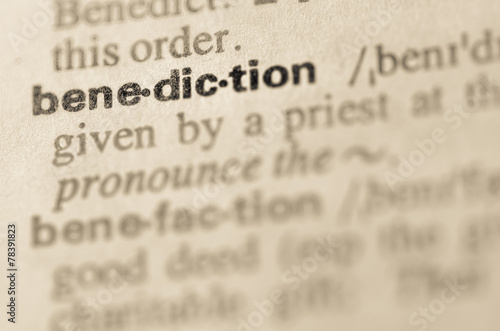 Dictionary definition of word benediction Wallpaper Mural