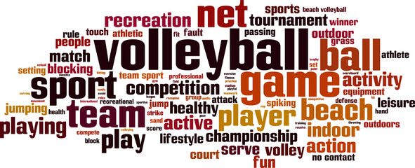 FototapetaVolleyball word cloud concept. Vector illustration